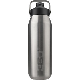 360° degrees Wide Mouth Gourde isotherme avec bouchon Sipper 750ml, argent